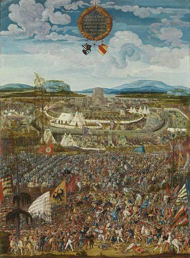 Historienzyklus: Belagerung der Stadt Alesia durch Julius Caesar und der Kampf gegen Vercingetorix