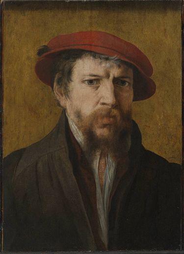Mann mit roter Mütze
