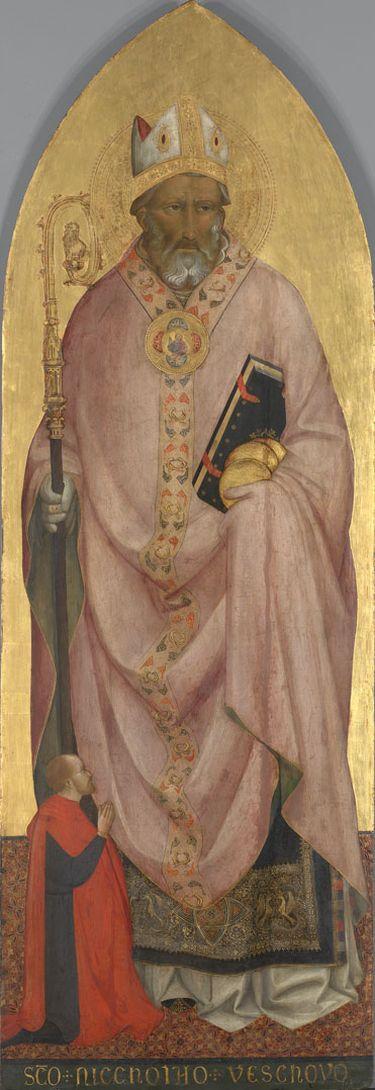 Hl. Nikolaus von Bari mit einem Stifter