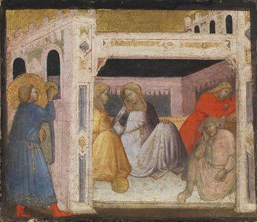 Der hl. Nikolaus beschenkt drei arme Mädchen