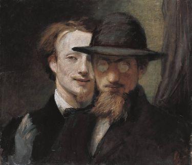 Doppelbildnis Marées und Lenbach