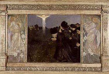 Karfreitag - Anbetung des Kreuzes (Triptychon)