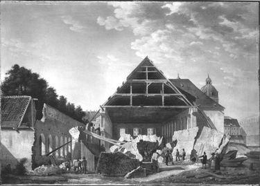 Der Abbruch der Alten Reitschule im Jahr 1822