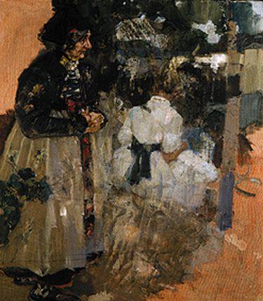 Dachauerin und Mädchen