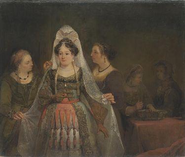 Esther legt ihre königlichen Gewänder an