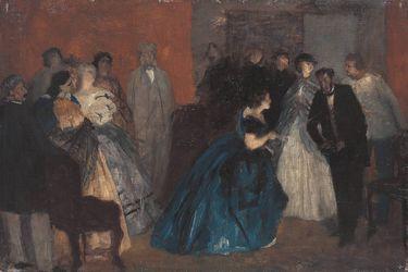 Der Empfang der blauen Dame