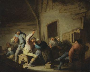 Ausgelassene Bauern in einer Schenke