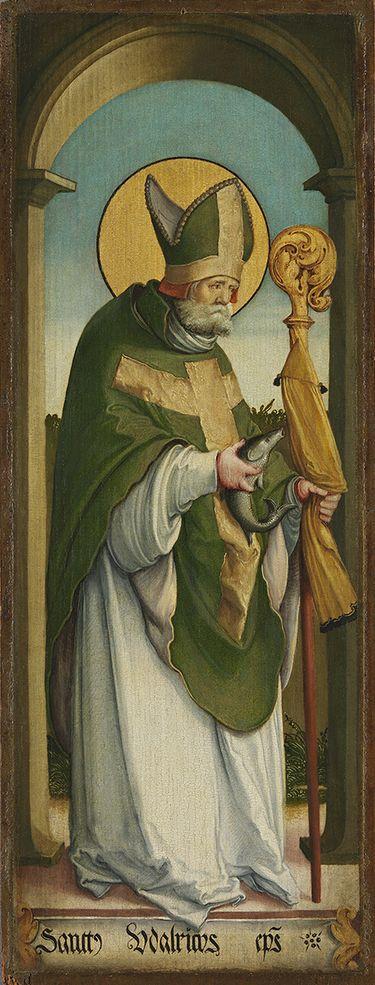 Linker Flügel eines Altares: Hl. Ulrich