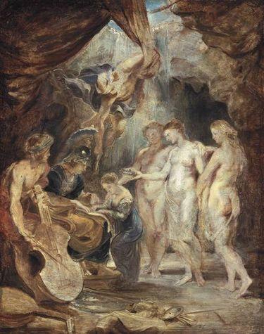 Die Erziehung der Prinzessin (Skizze zum Medici-Zyklus)