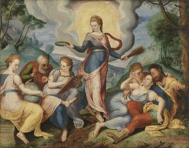 Allegorie auf den Lohn der Tugend und die Strafe des Lasters