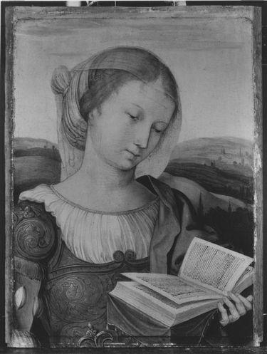 Hl. Katharina Außenseite: Fragment einer Verkündigung