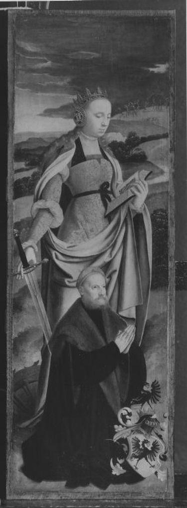 Rinck-Altar II: Hl. Katharina mit Stifter Hermann Rinck