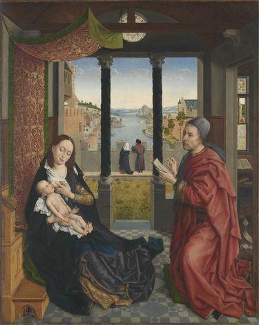 Der hl. Lukas zeichnet die Madonna