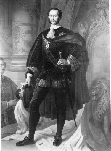 König Maximilian II. von Bayern als Hubertusritter (nach Kaulbach)
