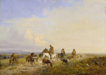 Schäfer in der römischen Campagna