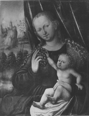 Maria mit Kind und Weintraube