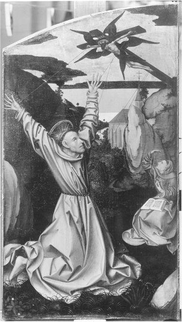 Teile eines Altares: Stigmatisation des hl. Franziskus