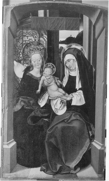 Teile eines Altares: Hl. Anna Selbdritt