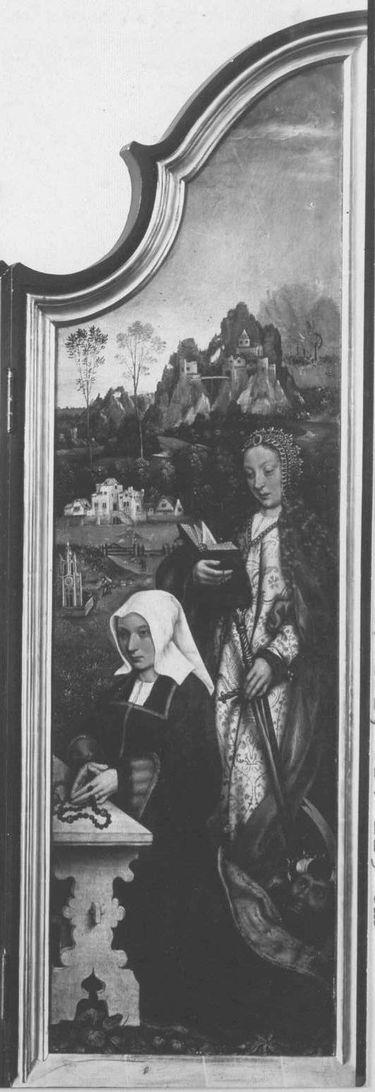 Beweinungsaltar: Hl. Katharina mit Stifterin