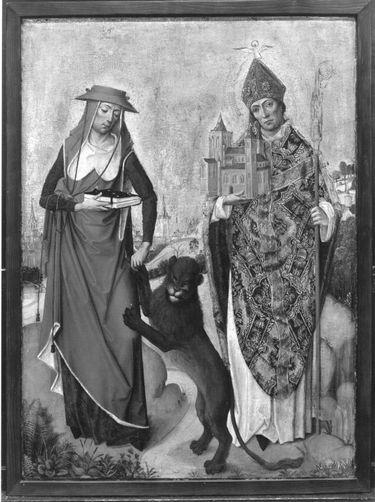 Teil eines Flügelaltares: Hll. Hieronymus und Kunibert Rückseite: Verkündigung