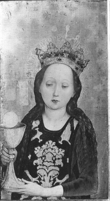 Hl. Barbara Außenseite: Martyrium der hl. Ursula und der elftausend Jungfrauen
