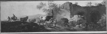 Landschaft mit Vieh und Ruinen (Supraporte)