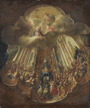 Das Konzil von Ephesus (Entwurf für das Deckengemälde im Bibliothekssaal des Stifts St. Gallen)