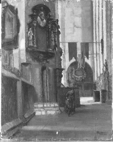 Inneres der Marienkirche in Danzig