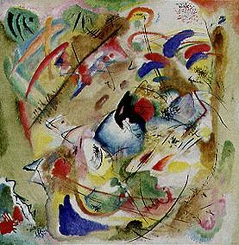 Träumerische Improvisation, Wassily Kandinsky 1913, Träumerische Improvisation, Wassily Kandinsky 1913. Foto: Bayerische Staatsgemäldesammlungen - Sammlung Moderne Kunst in der Pinakothek der Moderne München