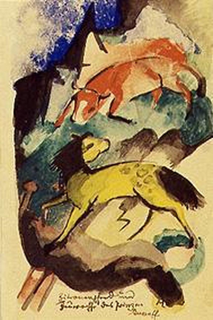 Postkarte von Franz Marc